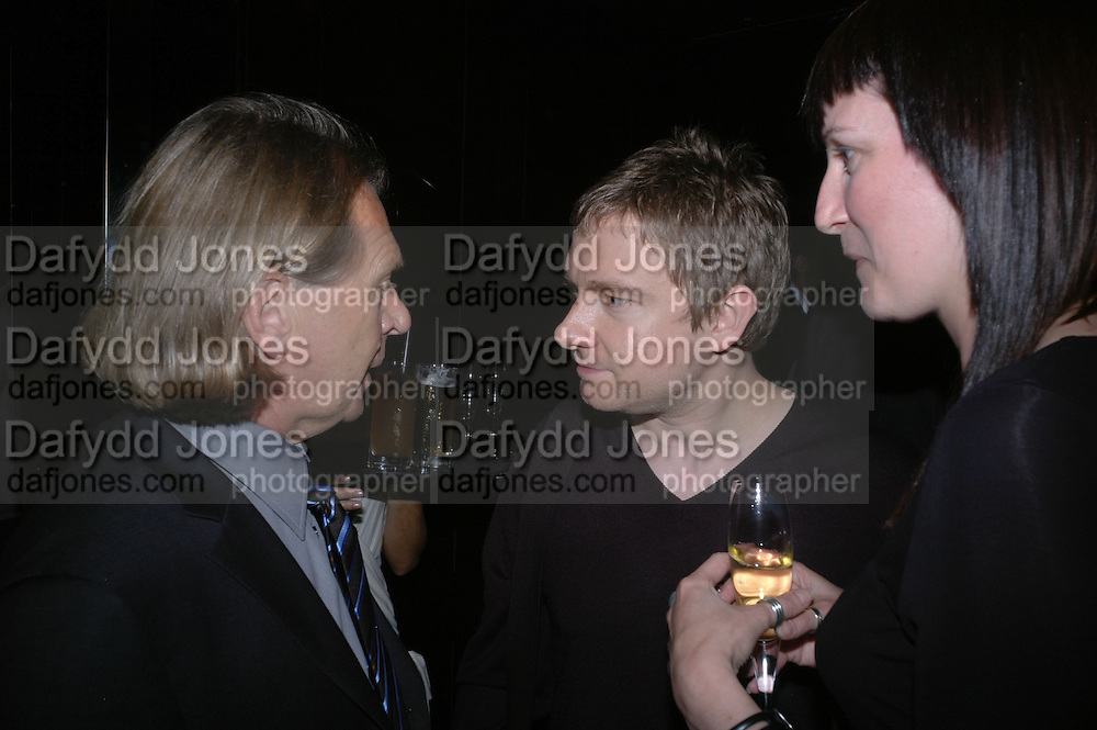 Steven Sharp and Martin Freeman. Marks and Spencer celebrate the launch of the new men's Autograph collection. Fifty Below. 50 St. James's St. London. SW1. 7 September 2005. ONE TIME USE ONLY - DO NOT ARCHIVE  © Copyright Photograph by Dafydd Jones 66 Stockwell Park Rd. London SW9 0DA Tel 020 7733 0108 www.dafjones.com