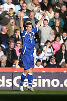 Photo: Pete Lorence.<br />Derby County v Cardiff City. Coca Cola Championship. 17/03/2007.<br />Cardiff's Paul Parry celebrates his equalising goal.
