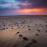 A fiery sunrise at Winterton-On-Sea