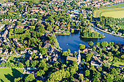 Nederland, Noord-Holland, Gemeente Waterland, 13-06-2017; Broek in Waterland met Sint-Nikolaaskerk en water van het Havenrak.<br /> Picturesque village in Waterland, north of Amsterdam.<br /> luchtfoto (toeslag op standard tarieven);<br /> aerial photo (additional fee required);<br /> copyright foto/photo Siebe Swart
