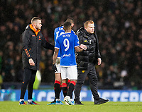 Football - 2019 Betfred Scottish League Cup Final - Celtic vs. Rangers<br /> <br /> Celtic manager Neil Lennon and Jermaine Defoe of Rangers at full time, Hampden Park Glasgow.<br /> <br /> COLORSPORT/BRUCE WHITE
