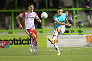 Forest Green Rovers Paul Digby(20) clears the ball during the EFL Sky Bet League 2 match between Forest Green Rovers and Stevenage at the New Lawn, Forest Green, United Kingdom on 21 August 2018.