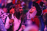 Darts fans in fancy dress during the PDC William Hill Darts World Championship at Alexandra Palace, London, United Kingdom on 13 December 2019.
