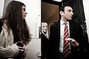 Ilona Staller ex porno star (in arte cicciolina) entra nella sede del  Partito Liberale Italiano per presentare la sua candidatura per le elezioni comunali. Roma, 11 aprile 2013. Christian Mantuano /  Oneshot