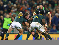 Rugby Union - 2017 Guinness Series (Autumn Internationals) - Ireland vs. South Africa<br /> <br /> Ireland's Tadhg Furlong is tackled by South Africa's Ross Cronje, left, and Siya Kolisi, right, at the Aviva Stadium.<br /> <br /> COLORSPORT/KEN SUTTON