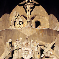 Europe, Spain, Barcelona. Gaudi's Sagrada Familia Cathedral - architectural history in the making.