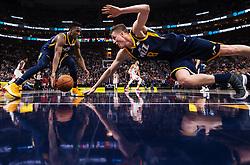 November 23, 2017 - Salt Lake City, UT, USA - 171117 Utahs Donovan Mitchell och Jonas Jerebko under basketmatchen i NBA mellan Utah Jazz och Chicago Bulls den 22 november 2017 i Salt Lake City  (Credit Image: © Joel Marklund/Bildbyran via ZUMA Wire)