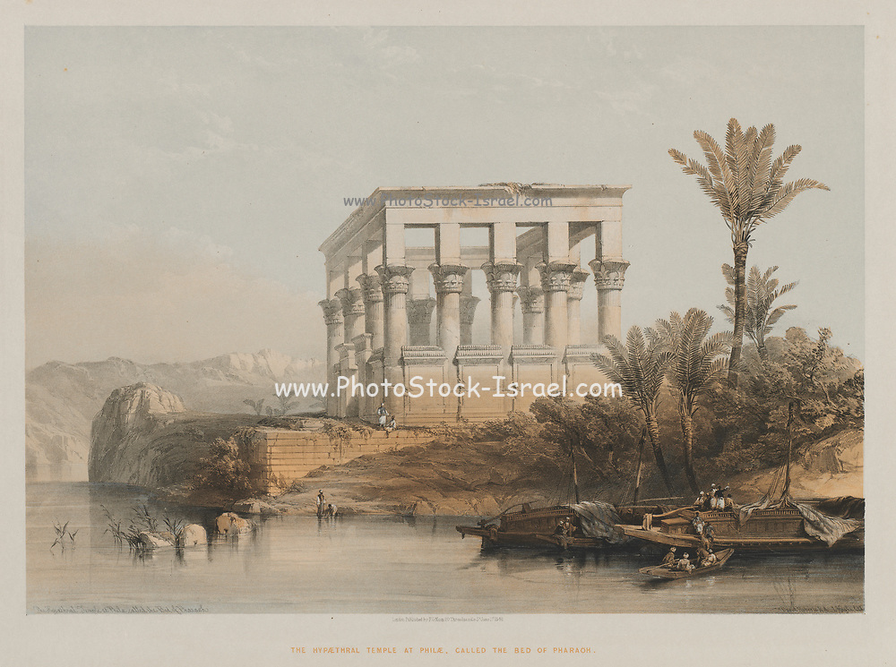 Egypt and Nubia, Volume II: The Hypaethral Temple at Philae, called the Bed of Pharaoh, 1848. Louis Haghe (British, 1806-1885), F.G. Moon, 20 Threadneedle Street, London, after David Roberts (British, 1796-1864). Color lithograph;