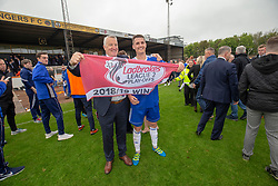 Cove Rangers manager John Shearin an Jamie Masson. Cove Rangers have become the SPFL's newest side and ended Berwick Rangers' 68-year stay in Scotland's senior leagues by earning a League Two place. Berwick Rangers 0 v 3 Cove Rangers, League Two Play-Off Second Leg played 18/5/2019 at Berwick Rangers Stadium Shielfield Park.