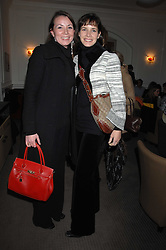 Left to right, sisters  ZAYLIE BUSSELL and DARCEY BUSSELL at a tea party to celebrate the launch of Buccellati's new London store held at 33 Albemarle Street, London on 13th February 2007.<br /><br />NON EXCLUSIVE - WORLD RIGHTS