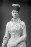 Alexandra (1844-1925) Queen Consort of Edward VII of Great Britain, when Princess of Wales. Photograph published London c1890. Woodburytype.