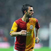 Galatasaray's Emre Colak during their Turkish superleague soccer derby match Galatasaray between Fenerbahce at the TT Arena in Istanbul Turkey on Friday, 18 March 2011. Photo by TURKPIX