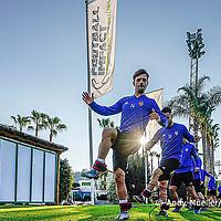 07.01.2020; Marbella; Fussball Super League - Trainingslager FC Basel; <br /> Valentin Stocker (Basel) Samuele Campo (Basel) <br /> (Andy Mueller/freshfocus)