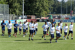 players of PSV during the warming up during a trainings session of PSV Eindhoven at the Herdgang on June 27, 2018 in Eindhoven, The Netherlands
