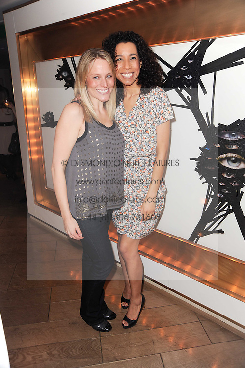 Left to right, Samantha Mann and Margherita Taylor at a party to promote Marie Claire magazine Inspire & Mentor Campaign held at The Loft, The Ivy Club, West Street, London on 30th March 2010.