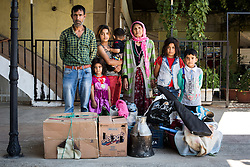 Seyfettin, his mother Senayi and his children Aysel, Mert, Birsel, Yuksel and Tamer are going to Sivas to work on farms. July 15, 2016. The Southern Kurtalan Train Express route, starting from Kurtalan, stops in Diyarbakir, Malatya, Sivas, Kayseri and Ankara from summer to fall. This train route is mostly used by seasonal workers that are living in east Turkey, but are working on the western part of the country from spring to fall. Photo by Aylin Kizil/NARphotos/ABACAPRESS.COM