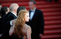 Actress Jessica Chastain arrives for the screening of 'Lawless' presented in competition at the 65th Cannes film festival on May 19, 2012 in Cannes. Photo Ki Price/i-Images