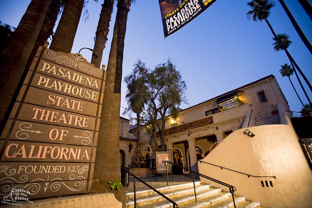 Pasadena Playhouse State Theatre of California, Playhouse District, Pasadena, Los Angeles County, California, USA