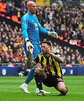 Football - 2018 / 2019 Emirates FA Cup - Semi-Final: Wolverhampton Wanderers vs. Watford<br /> <br /> Andre Gray of Watford can't believe he has not scored, at Wembley Stadium.<br /> <br /> COLORSPORT/ANDREW COWIE