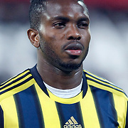 Fenerbahce's Joseph Michael YOBO during their Turkish Superleague Derby match Besiktas between Fenerbahce at the Inonu Stadium at Dolmabahce in Istanbul Turkey on Thursday, 207 October 2011. Photo by TURKPIX