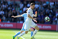 Gylfi Sigurdsson of Swansea city in action. Premier league match, Swansea city v Stoke City at the Liberty Stadium in Swansea, South Wales on Saturday 22nd April 2017.<br /> pic by Andrew Orchard, Andrew Orchard sports photography.