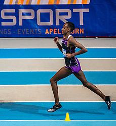 Mahadi Abdi Ali in action on 3000 meter during the Dutch Indoor Athletics Championship on February 23, 2020 in Omnisport De Voorwaarts, Apeldoorn