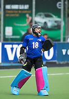 BREDA (Neth.)  NZ goallie Brooke Roberts during the match  New Zealand vs England U21 women . Volvo Invitational Tournament U21. COPYRIGHT KOEN SUYK