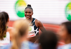DinaAsher-Smithof Great Britain in action on the 100 meter during FBK Games 2021 on 06 june 2021 in Hengelo.