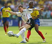 v.l.Robert Huth, Felix Borja Ecuador<br /> Fussball WM 2006 Ecuador - Deutschland<br /> Fussball WM 2006 Ecuador - Deutschland<br /> Ecuador - Tyskland<br /> Norway only