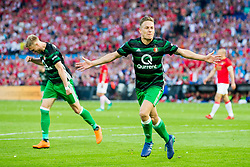Jens Toornstra of Feyenoord during the Dutch Toto KNVB Cup Final match between AZ Alkmaar and Feyenoord on April 22, 2018 at the Kuip stadium in Rotterdam, The Netherlands.