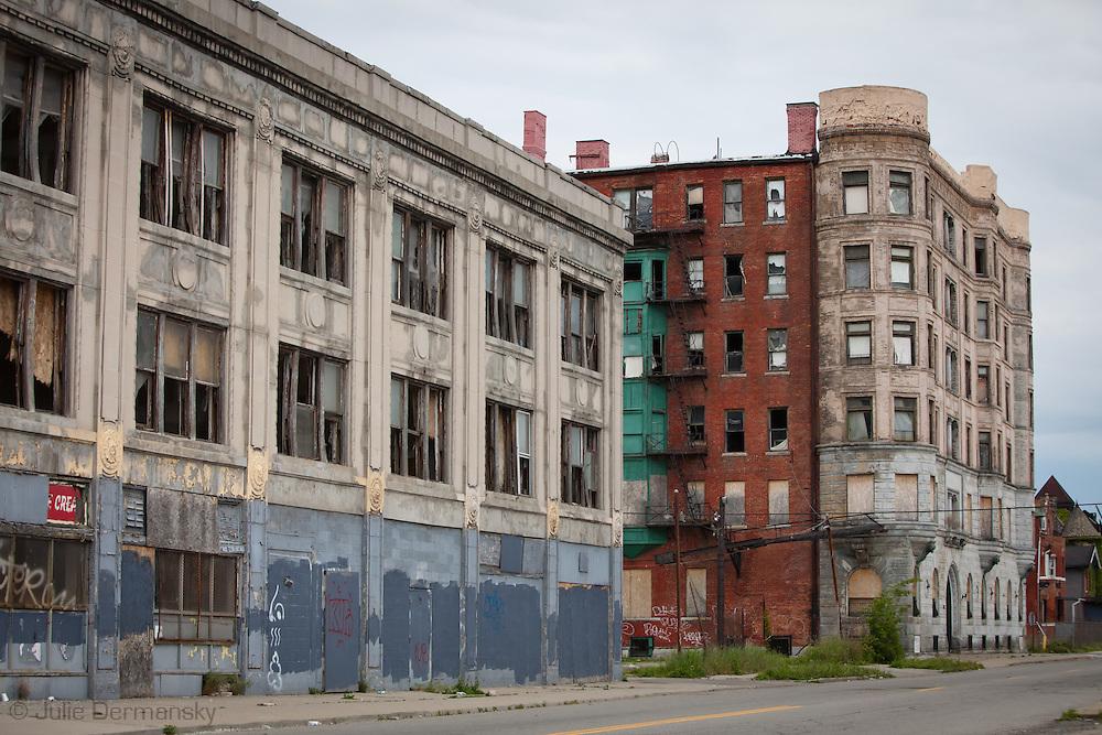 Abandoned buildings in Detroit.