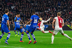 13-03-2019 NED: Ajax - PEC Zwolle, Amsterdam<br /> Ajax has booked an oppressive victory over PEC Zwolle without entertaining the public 2-1 / Nicolas Tagliafico #31 of Ajax, Darryl Lachman #29 of PEC Zwolle