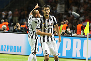 Álvaro Morata of Juventus celebrates his goal during the Champions League Final between Juventus FC and FC Barcelona at the Olympiastadion, Berlin, Germany on 6 June 2015. Photo by Phil Duncan.