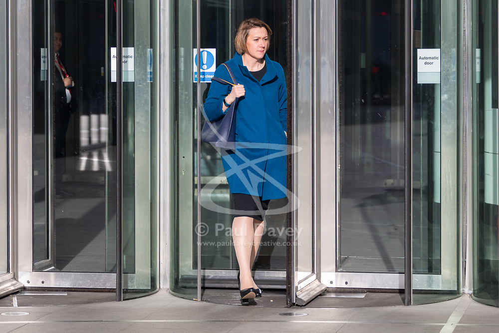 London - Former Haringey Council Leader Claire Kober leaves the BBC's Broadcasting House in London after appearing on the Andrew Marr Show. February 04 2018.