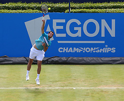 June 20, 2017 - London, United Kingdom - James Ward  (GBR)   against Julien Benneteau  (FRA)  during Round One match on the second day of the ATP Aegon Championships at the Queen's Club in west London on June 20, 2017  (Credit Image: © Kieran Galvin/NurPhoto via ZUMA Press)