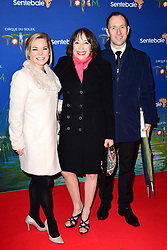Didi Conn (centre) and Lukas Rozycki (right) attending the premiere of Cirque du Soleil's Totem, in support of the Sentebale charity, held at the Royal Albert Hall, London.