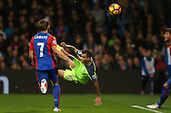Philippe Coutinho of Liverpool attempts an overhead kick. Premier League match, Crystal Palace v Liverpool at Selhurst Park in London on Saturday 29th October 2016.<br /> pic by John Patrick Fletcher, Andrew Orchard sports photography.