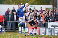 Ronan Curtis of Portsmouth in action during the The FA Cup 1st round match between Maidenhead United and Portsmouth at York Road, Maidenhead, United Kingdom on 10 November 2018.