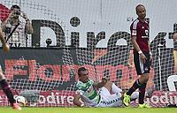 BILDET INNGÅR IKKE I FASTAVTALER OG ALL NEDLASTING BLIR FAKTURERT<br /> <br /> Fotball<br /> Tyskland<br /> Foto: imago/Digitalsport<br /> NORWAY ONLY<br /> <br /> 13.09.2015 - Fussball - Saison 2015 2016 - 2. Fussball - Bundesliga - 06. Spieltag: SpVgg Greuther Fürth Fuerth - 1. FC Nürnberg Nuernberg FCN - / - Veton Berisha (19, SpVgg Greuther Fürth ) erzielt Tor zum 1:1 - Miso Brecko (2, 1. FC Nürnberg FCN )
