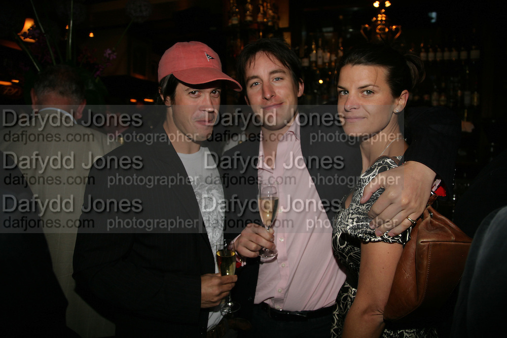 Rob Birkin, Jules Stevens and Amelia Bevan, PJ's Annual Polo Party . Annual Pre-Polo party that celebrates the start of the 2007 Polo season.  PJ's Bar & Grill, 52 Fulham Road, London, SW3. 14 May 2007. <br /> -DO NOT ARCHIVE-© Copyright Photograph by Dafydd Jones. 248 Clapham Rd. London SW9 0PZ. Tel 0207 820 0771. www.dafjones.com.