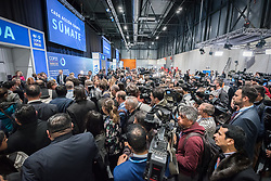 2 December 2019, Madrid, Spain: A large number of media representatives gather for the official opening ceremony on day one of COP25 in Madrid.