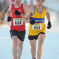 28 November 2010; Brian McGinley, Clare, left, and Kenneth Rodgers, Clare, in action during the Senior Mens race in the Woodie's DIY AAI Inter County Cross Country & Juvenile Even Ages. Grensha Grounds, Oakgrove College, Derry. Picture credit: Oliver McVeigh / SPORTSFILE *** NO REPRODUCTION FEE ***