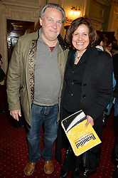 REBECCA FRONT and PHIL CLYMER at Beautiful - The Carole King Musical 1st Birthday celebration evening at The Aldwych Theatre, London on 23rd February 2016.