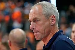 21-09-2019 NED: EC Volleyball 2019 Netherlands - Germany, Apeldoorn<br /> 1/8 final EC Volleyball / Ass. coach Henk-Jan Held of Netherlands