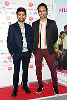 Antonio Aakeel, Abid Khan Arriving for the screening of Granada Heights, UK Asian Film Festival, hosted at Rich Mix Shoreditch London photo by Terry Scott