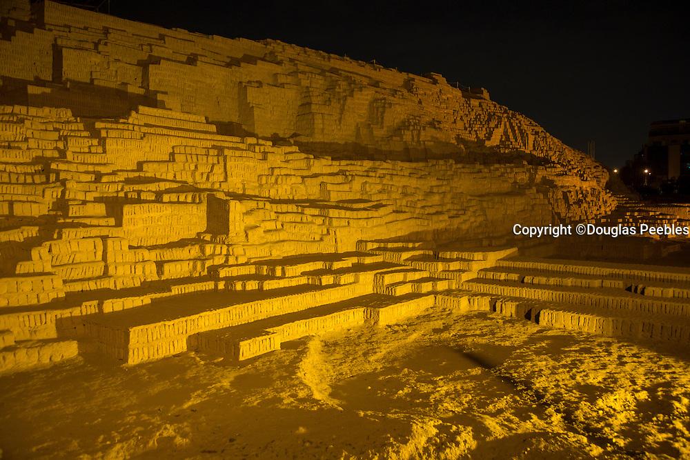 Huaca Pucllana,, pyramid,Lima, Peru