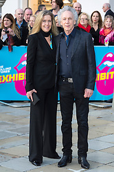 © Licensed to London News Pictures. 04/04/2016 JAYNE ANDREW and KENNY JONES attend The Rolling Stones Exhibition Private at The Saatchi Gallery. London, UK. Photo credit: Ray Tang/LNP