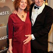 NLD/Den Haag/20111201- Premiere Ramses, tvkok Caspar Bürgi en zwangere partner Barbara