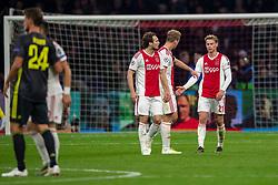 10-04-2019 NED: Champions League AFC Ajax - Juventus,  Amsterdam<br /> Round of 8, 1st leg / Ajax plays the first match 1-1 against Juventus during the UEFA Champions League first leg quarter-final football match / Daley Blind #17 of Ajax, Frenkie de Jong #21 of Ajax