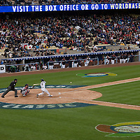 22 March 2009: #9 Michihiro Ogasawara of Japan swings and misses during the 2009 World Baseball Classic semifinal game at Dodger Stadium in Los Angeles, California, USA. Japan wins 9-4 over Team USA.